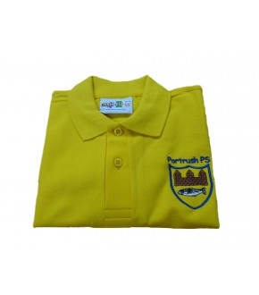 Solid Polo Shirt with Logo